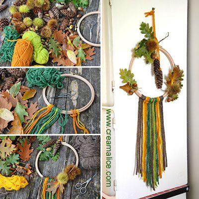 diy d co murale automne vitrine diy d co murale deco automne et diy d co. Black Bedroom Furniture Sets. Home Design Ideas
