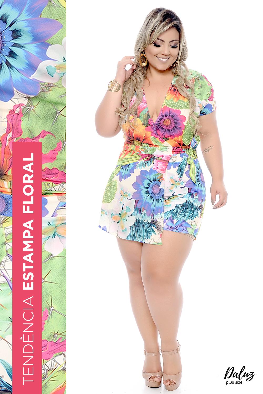 6480979268 Macaquinho Plus Size Sabrit - Coleção Primavera - Verão 2018 Plus Size -  daluzplussize.com.br