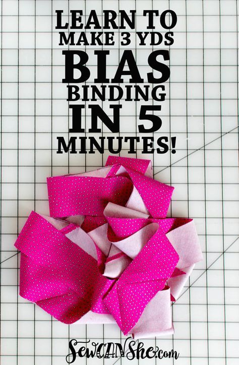 How to Make 3 Yards of Continuous Bias Binding from a Fat Quarter!!! {video tutorial} — SewCanShe | Free Sewing Patterns and Tutorials