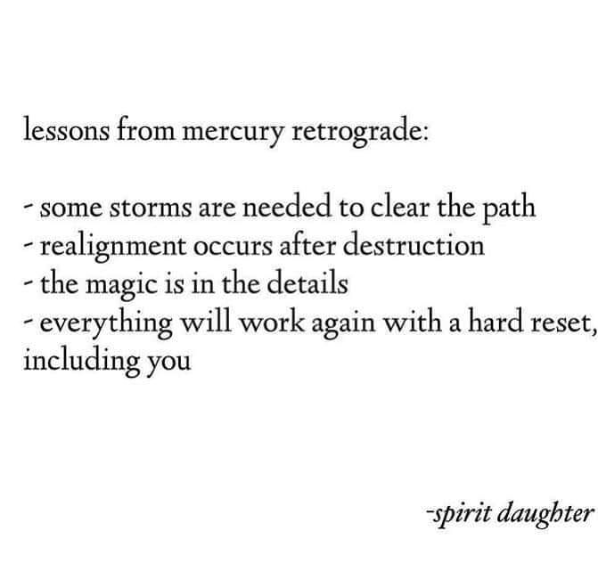 Image may contain text that says 'lessons from mercury