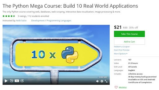 Coupon udemy the python mega course build 10 real world coupon udemy the python mega course build 10 real world applications 21 only course discounts free fandeluxe Gallery