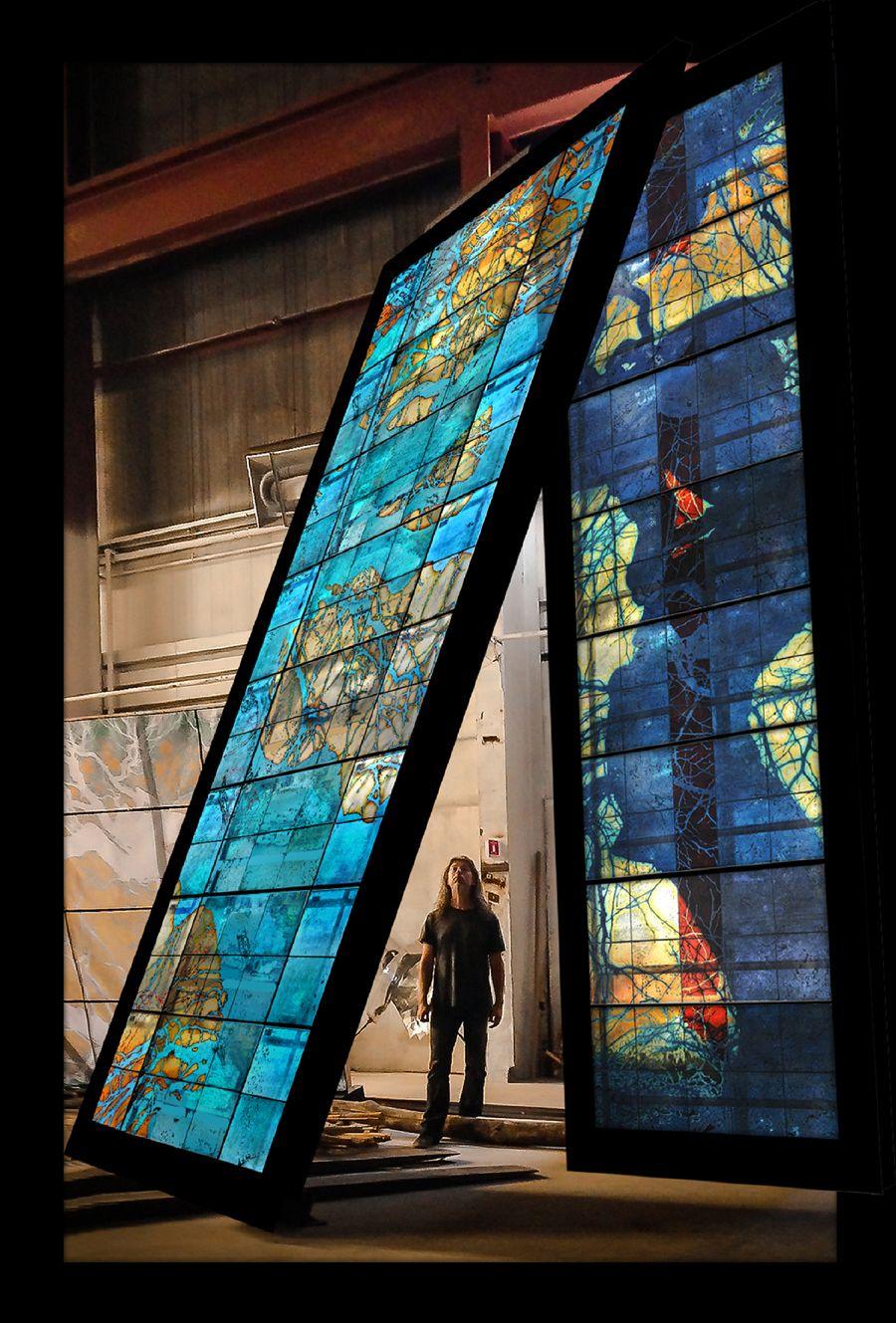 Doug and Mike Starn create site-specific glass public artwork for Princeton University — Hot Sheet — Glass Quarterly — UrbanGlass