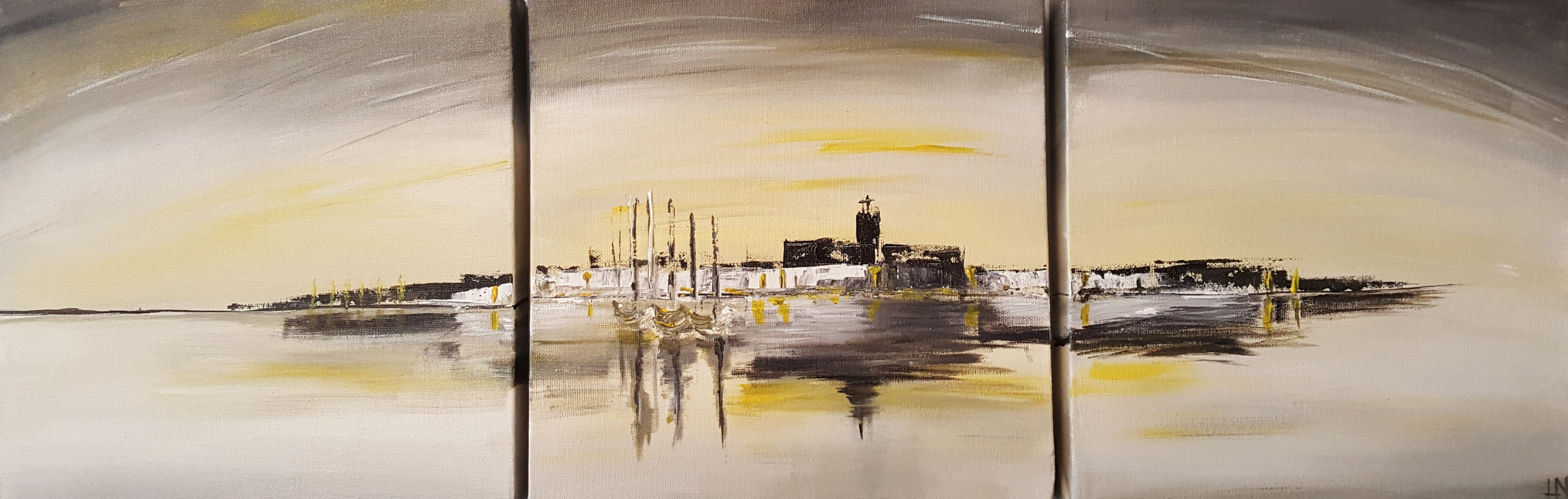 Peinture Abstraite Acrylique De Helena Monniello Sous Forme De
