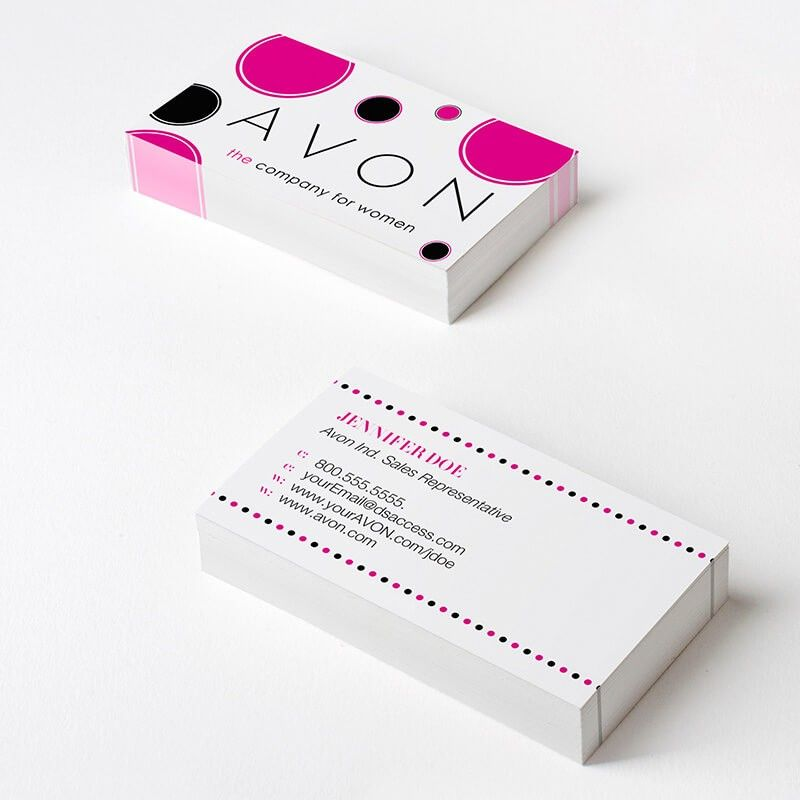 How to sell avon an avon reps 6 best tips for being wildly avon dotty business card dsaccess avon businesscards avonbusinesscards colourmoves