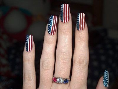 Nail Art Designs 10 Elegant Fourth Of July Nail Art Designs Ideas