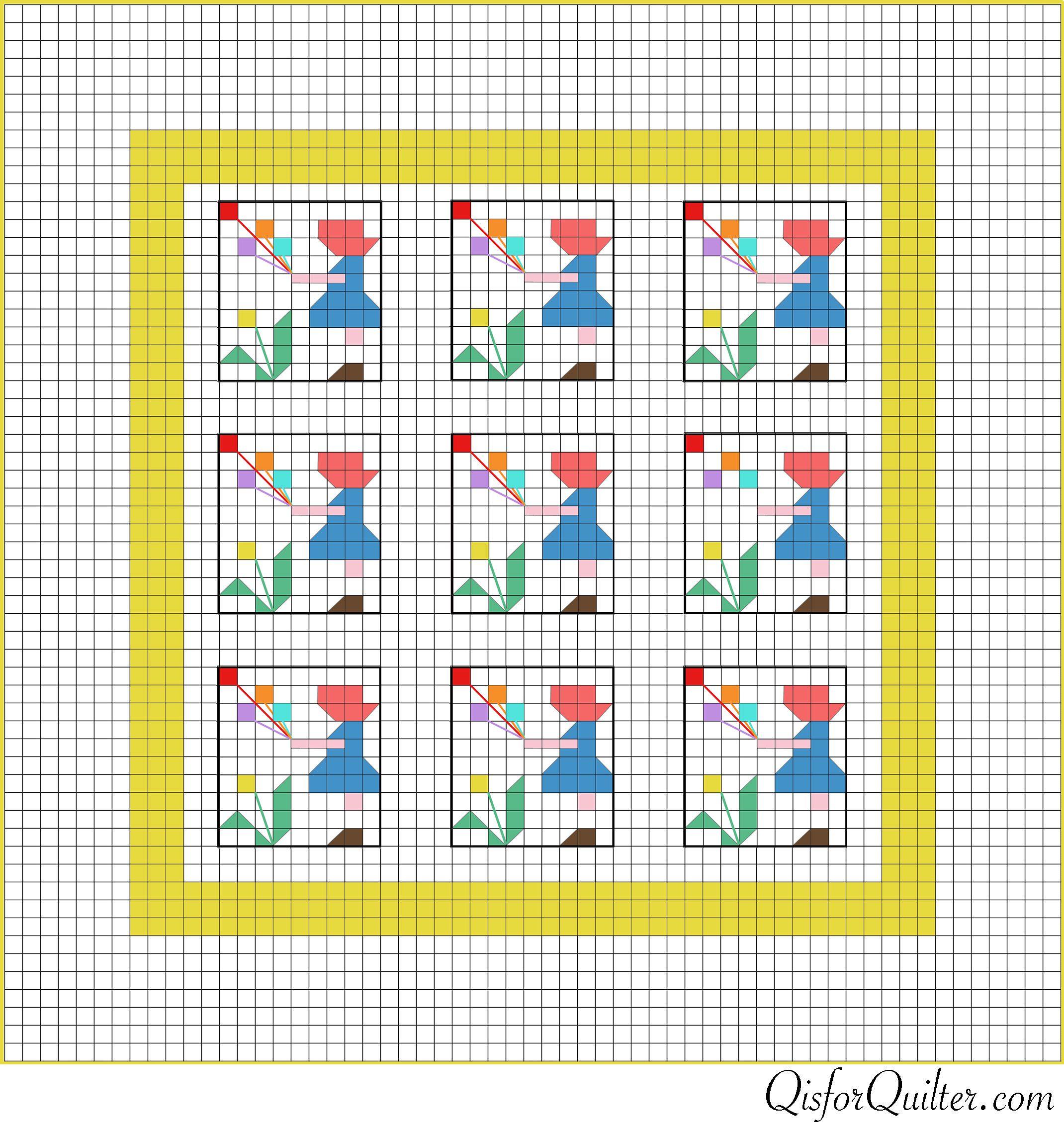 Vintage Sunbonnet Sue Pieced Quilt Pattern With Images