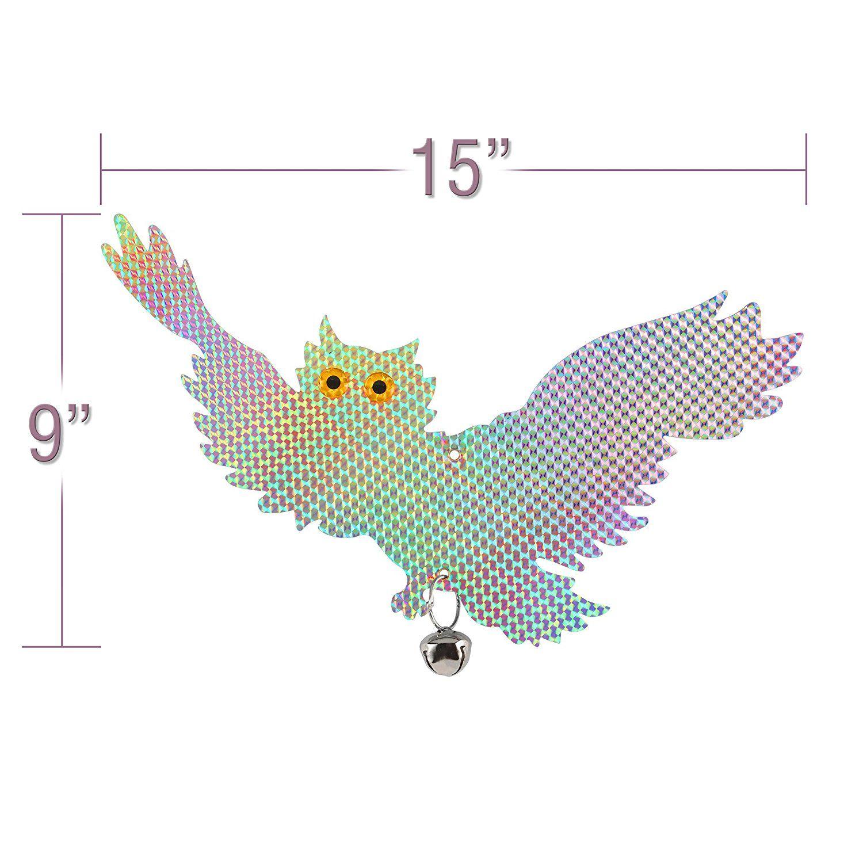 2-Pack Bird Deterrent Reflective Owls - Bird Repellent
