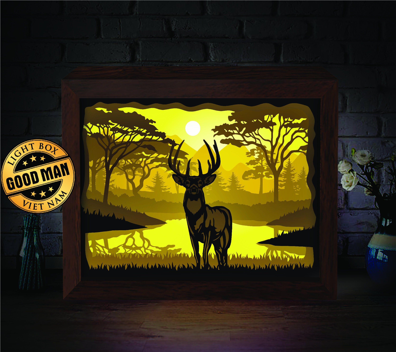 Pin on Animal Paper Cutting Light Box SVG Template files