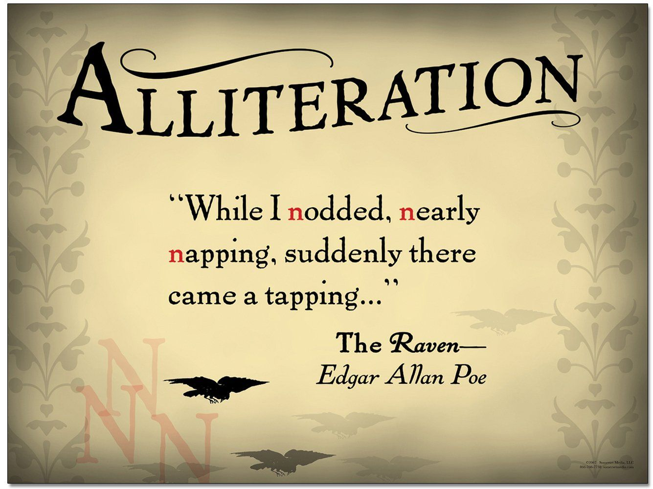 Alliteration A Quote From The Raven By Edgar Allan Poe Learn A