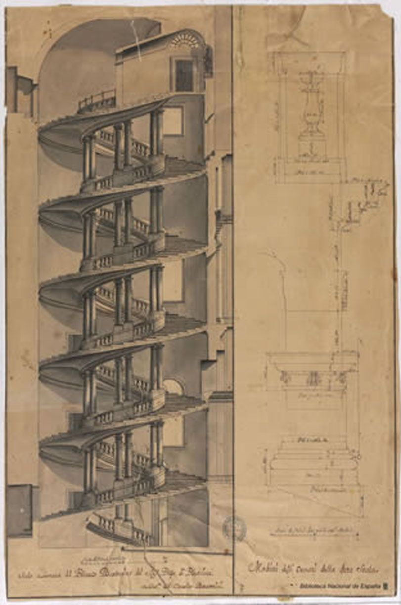Palacio barberini escalera el ptica obra de borromini for Escaleras bonitas