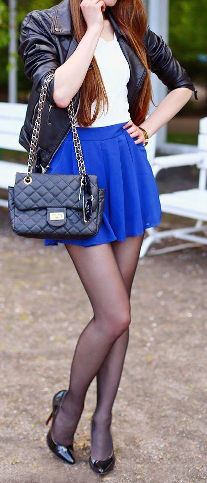 Color de medias para vestido azul rey