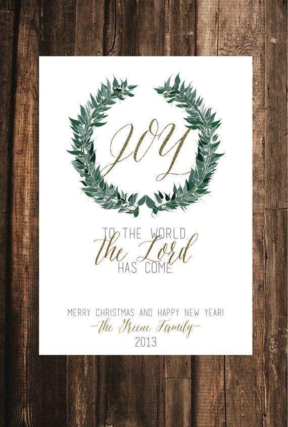 Joy to the World Christmas Card // 5x7 DIY by blacklabstudio ...