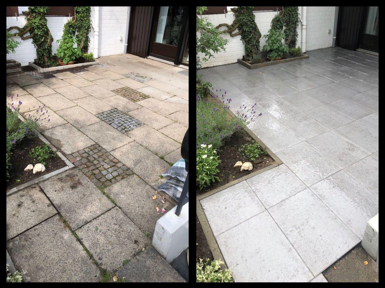 terrasse renovieren, platten austauschen, gartenausblick erneuern