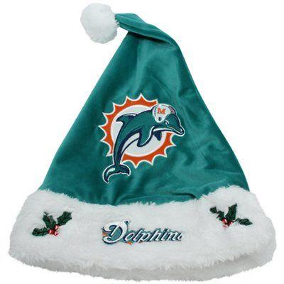 Miami Dolphins 2012 Santa Hat - Aqua  c8334d8a4