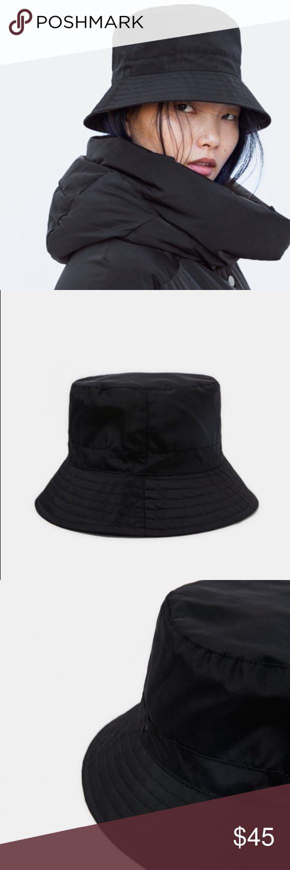 Zara Black Bucket Hat Zara Black Black Bucket Hat Zara