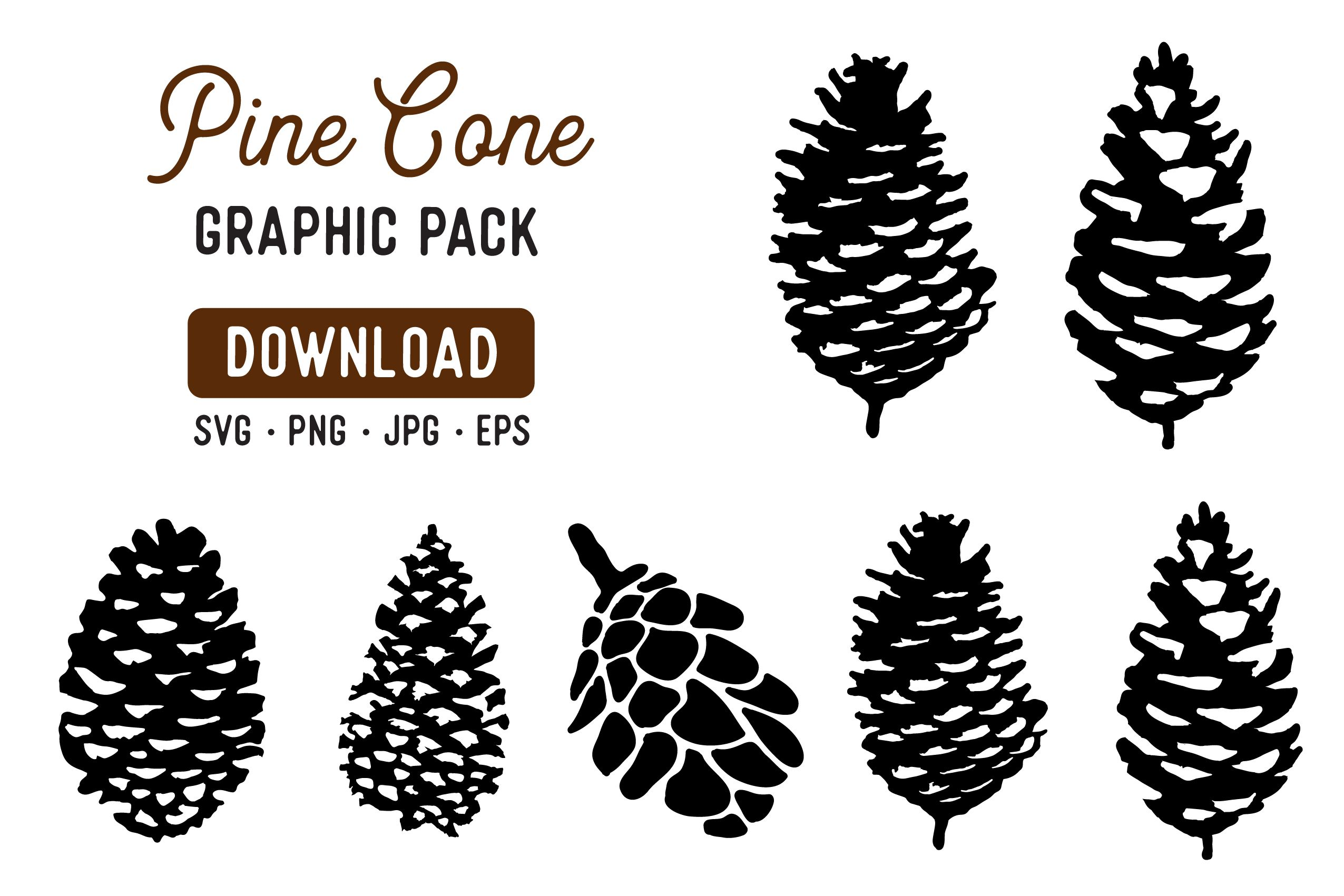 Pine Cone Stencil Graphic Pack Graphic By The Gradient Fox Creative Fabrica Pine Cones Pine Tree Silhouette Pine Cone Drawing
