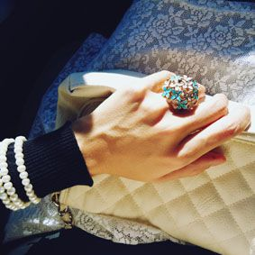 my flower ring, #fashion, #style, #jewels