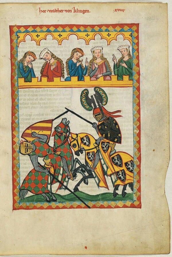 En la Edad Media, los nobles caballeros tenían una curiosa forma de atraer la atención de las doncellas.