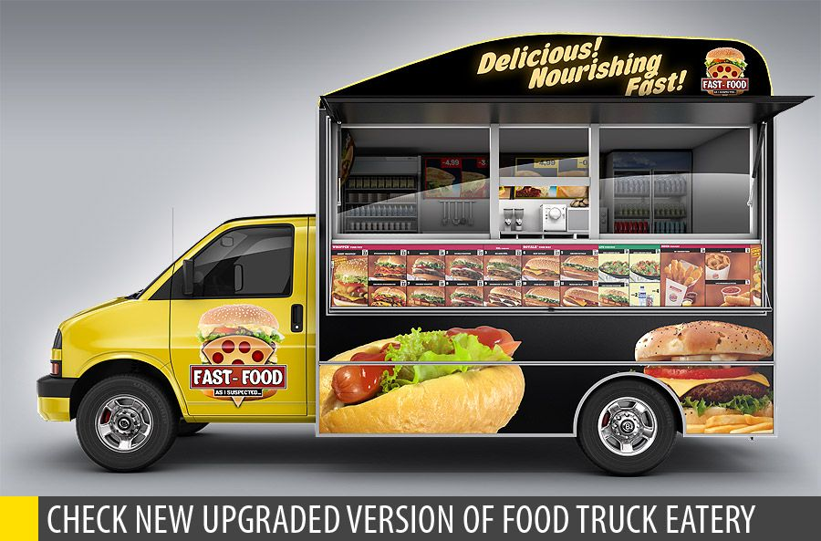 Food truck mockup minibus eatery mockup best food