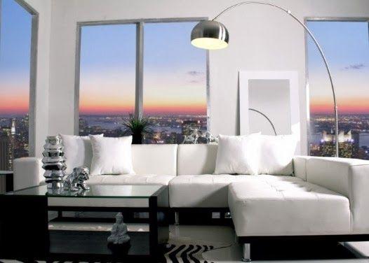 Mondani Modern White Leather Sofa| Decorating With White| White Décor