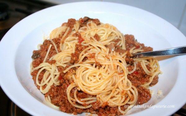 Resep Cara Membuat Spaghetti Bolognese Enak Dan Mudah Resep Masakan Dapur Arie Resep Masakan Resep Masakan Indonesia Masakan