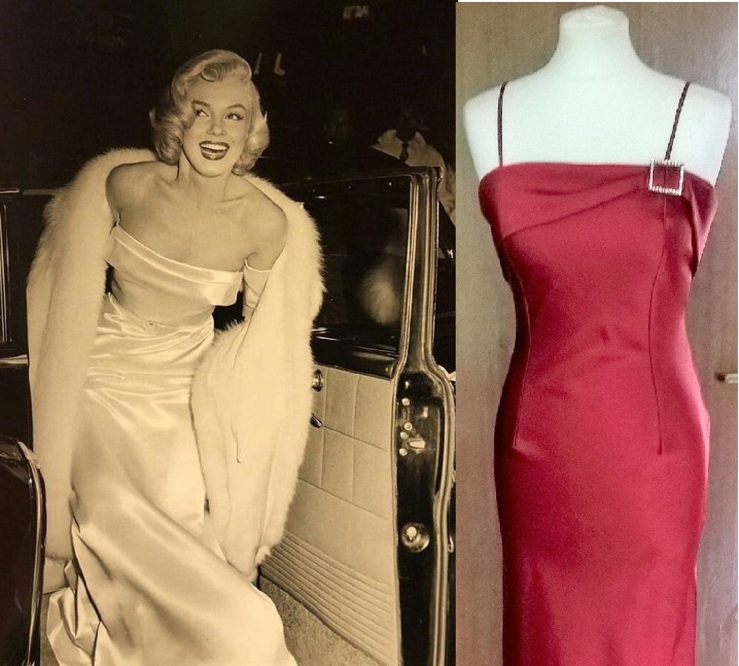 Marilyn Monroe Dress Vintage 50s Style Dress Old Hollywood Glamour
