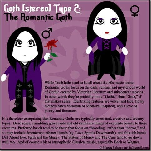 tonights goth stereotype is the romantic goth origin from