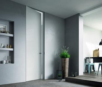 Sistema Zero: La porta filo muro che si integra ...