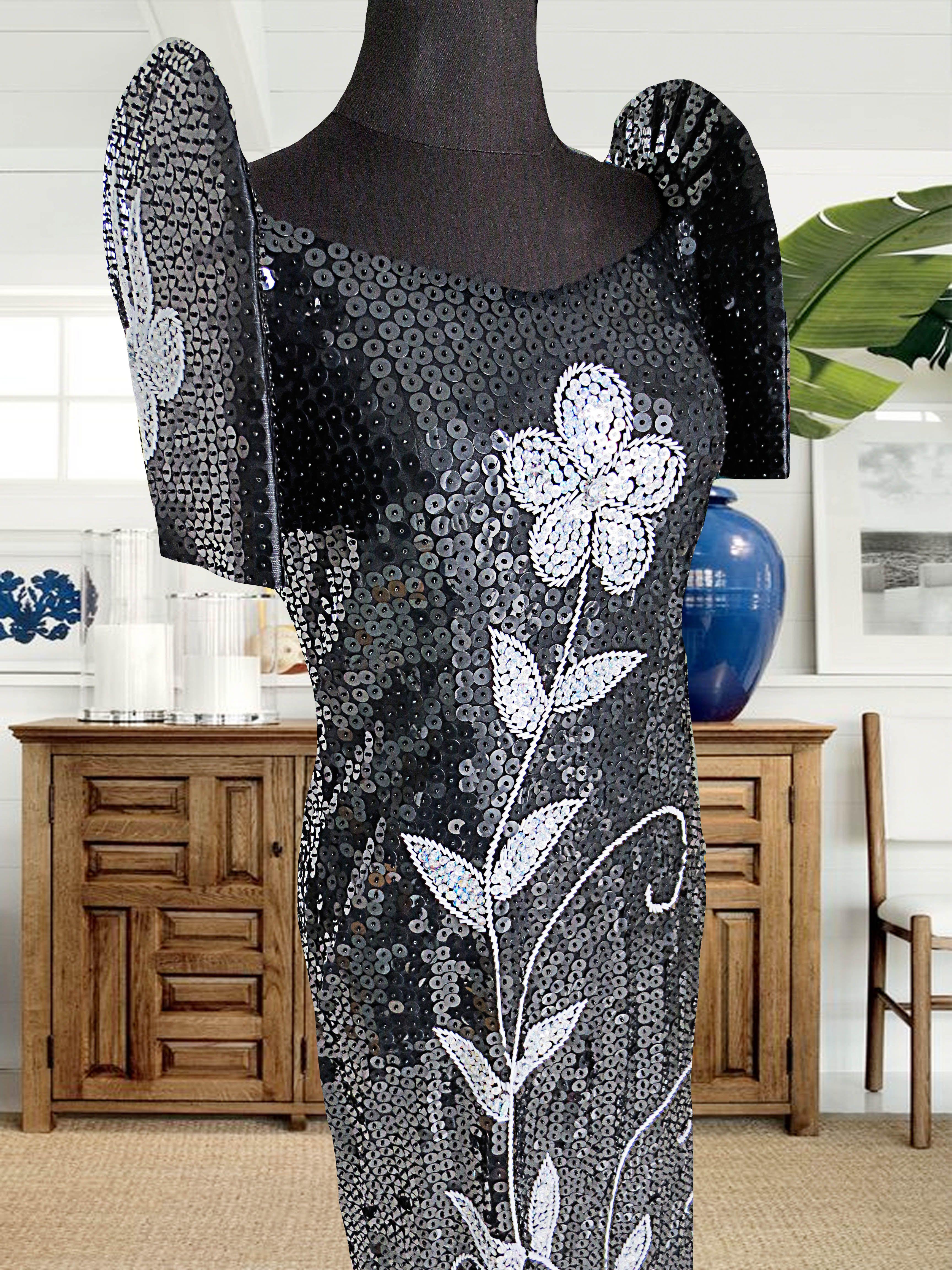 Modern black Filipiñana filipinana gown for rent P1,000 www ...