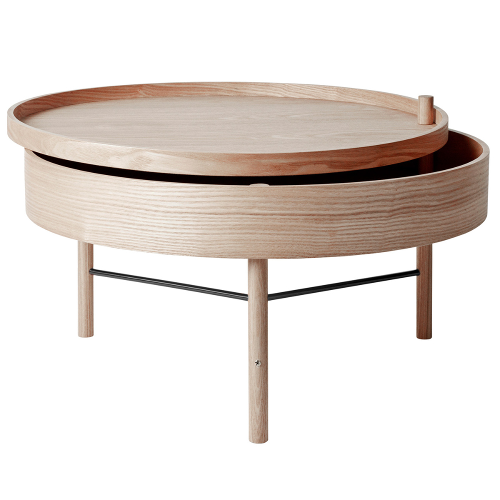 Menu Turning Table White Oak In 2020 Coffee Table Wood Coffee Table Coffee Tables For Sale [ 1000 x 1000 Pixel ]