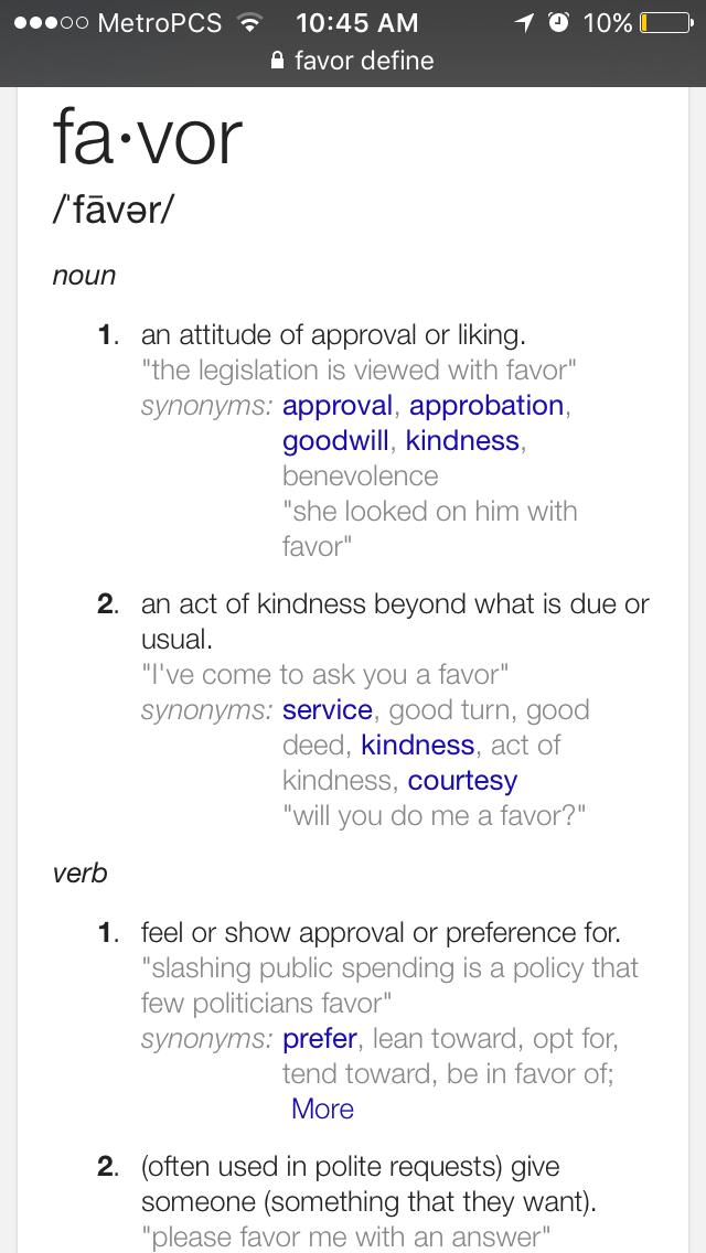 Favor Defined Words Pinterest Favors