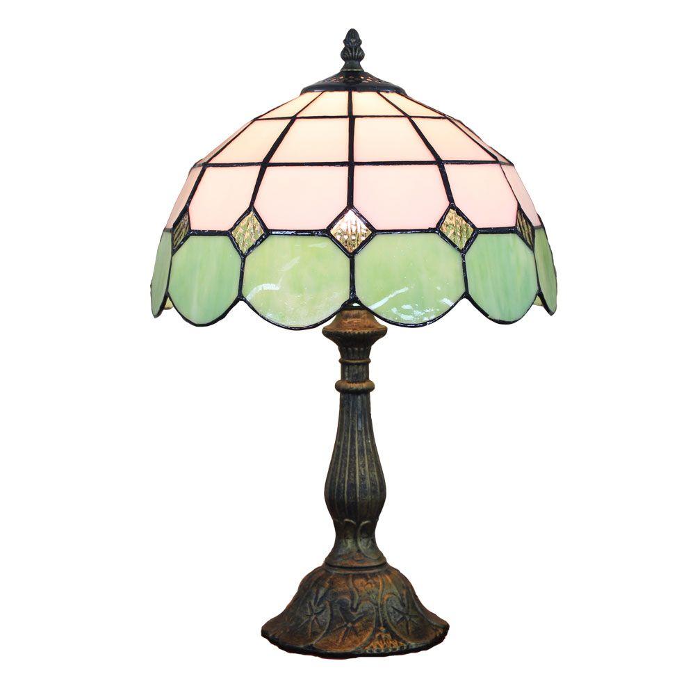 Pour Luminaire En Verre Poser Tiffany Lampe À Chevet Table EWIYDH29