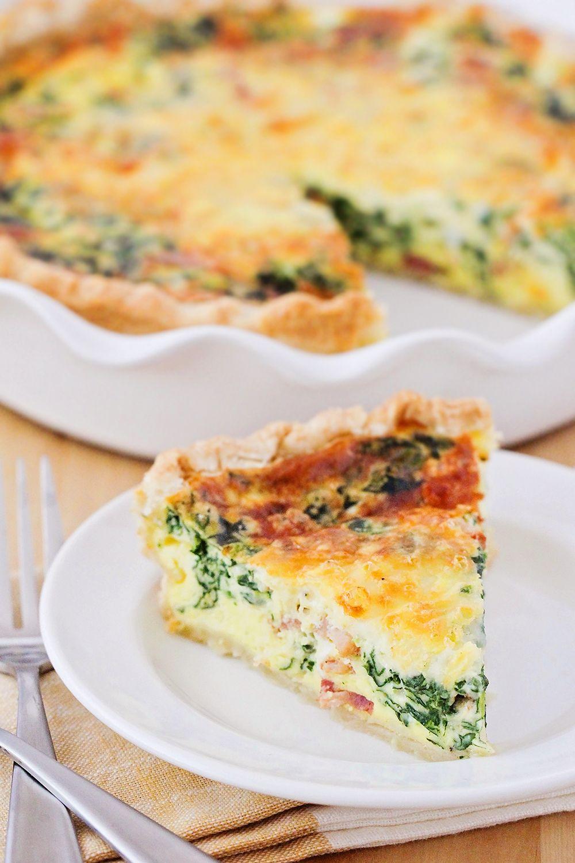 Spinach And Bacon Quiche Bacon Quiche Quiche Recipes Recipes