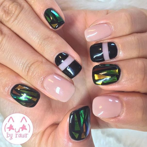 19 Trendy Broken Glass Nail For Winter Winter Nail Art Winter