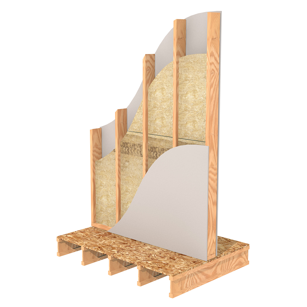 Rockwool Safe N Sound Is A Batt Insulation That Is Ideal For Interior Wood Stud Wall Applications Where Sound A Interior Wall Insulation Wood Studs Stud Walls