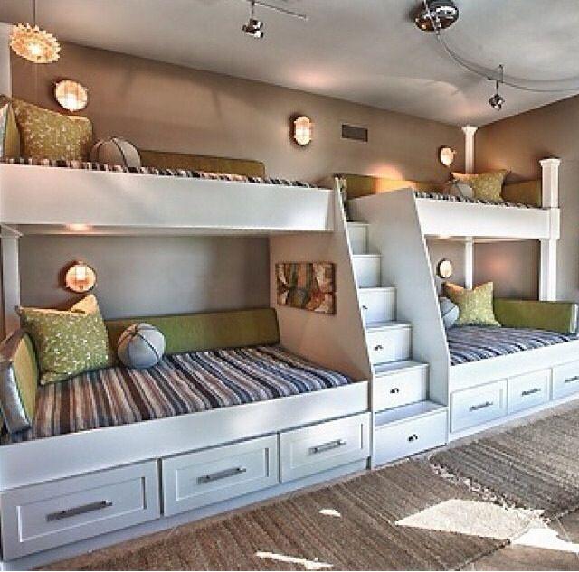 If I Had Quadruplets Bunk Beds Built In Bunk Bed Designs Built In Bunks