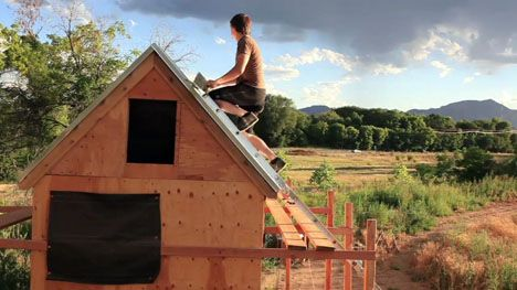 "A documentary following one man's move from ""normal"" home-sized living to a tiny home."