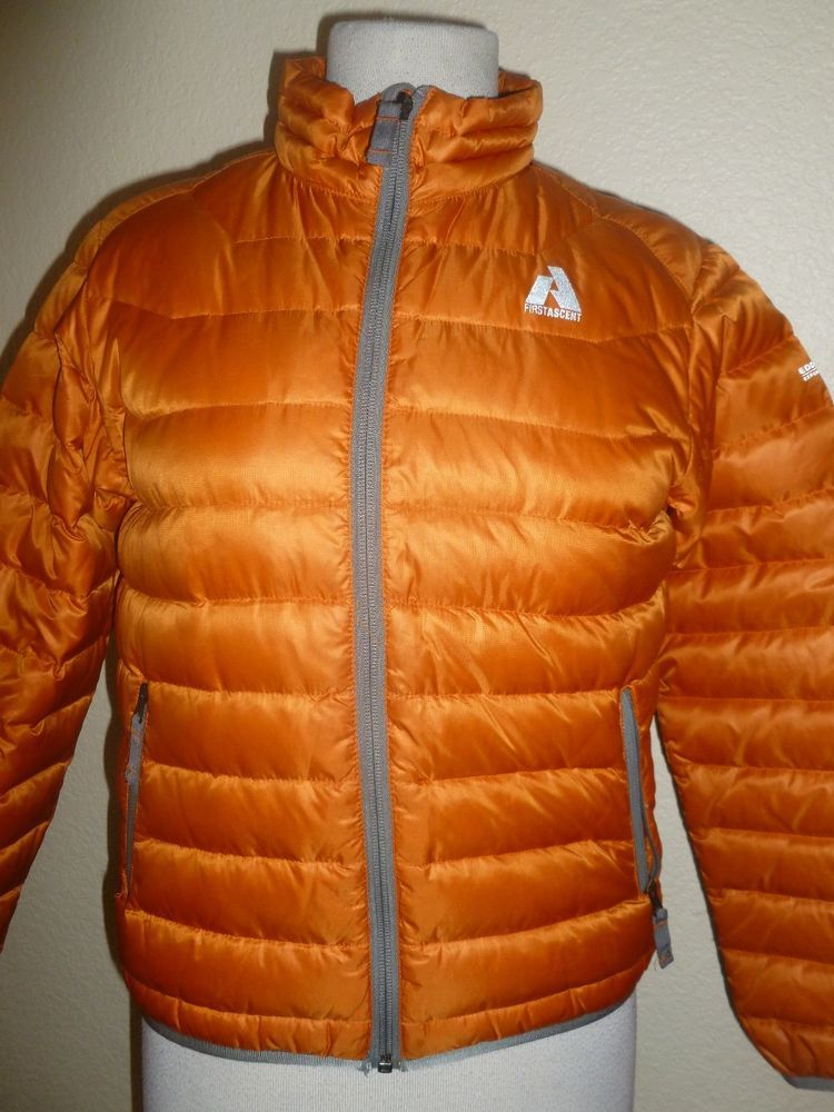 Ed Bauer Boys Kids First Ascent Downlight Jacket Coat 600 Goose Fill Sz 12 Edbauer Downjacket