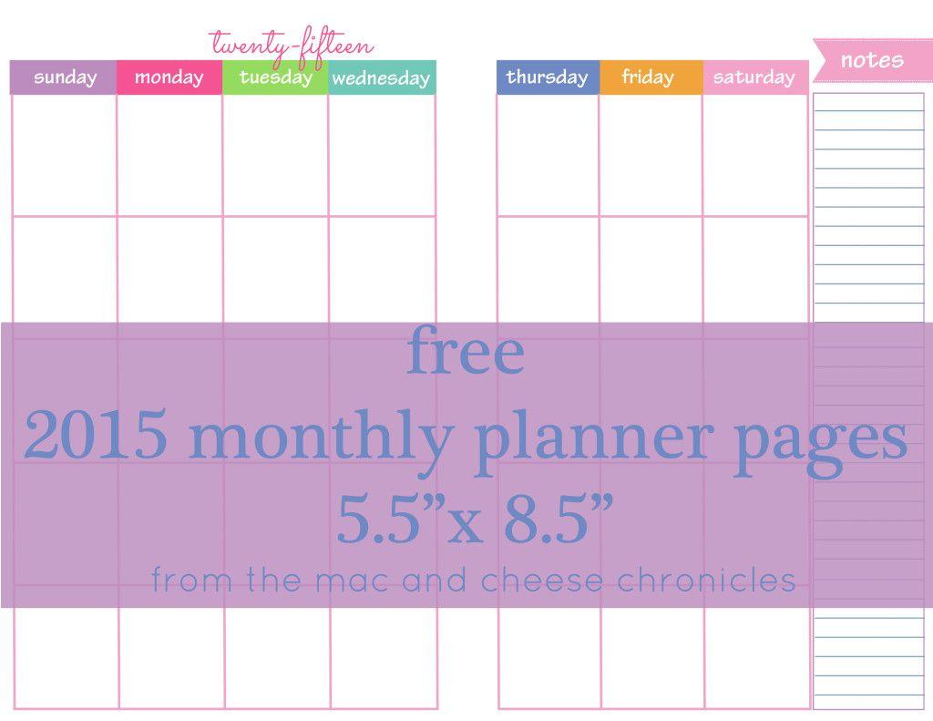 weekly calendar 2015 printable