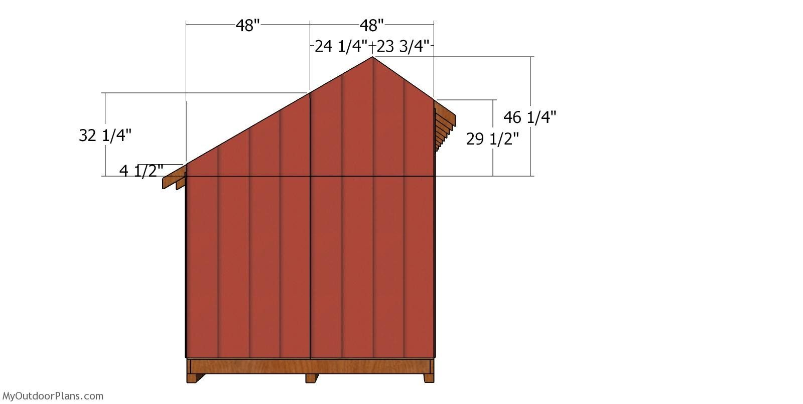 8x12 Saltbox Shed Roof Plans Myoutdoorplans Free Woodworking Plans And Projects Diy Shed Wooden Playhouse Pergola In 2020 Roof Plan Wood Storage Sheds Diy Shed