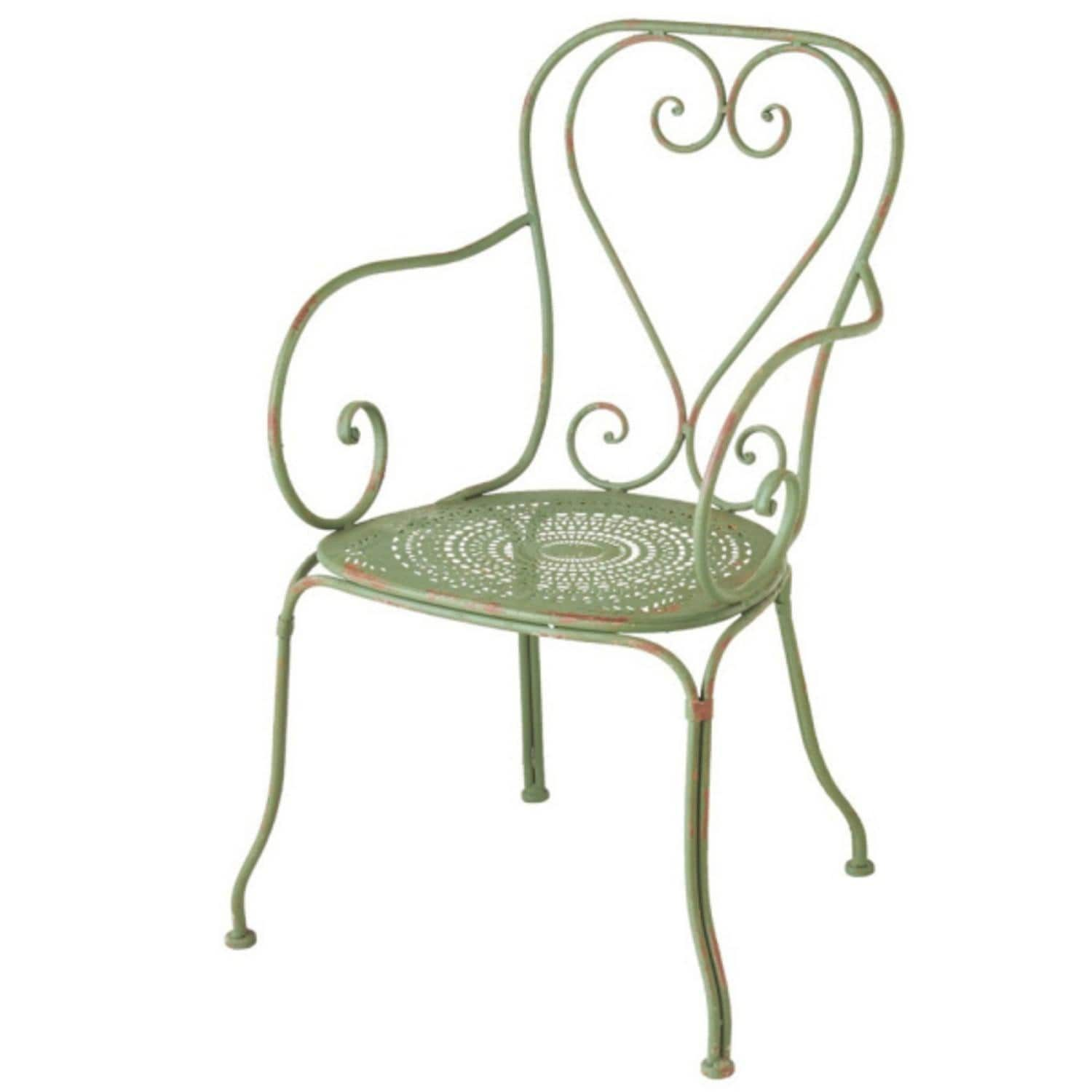 Set Of 2 French Countryside Outdoor Patio Garden Distressed Green Bistro  Chairs, Patio Furniture