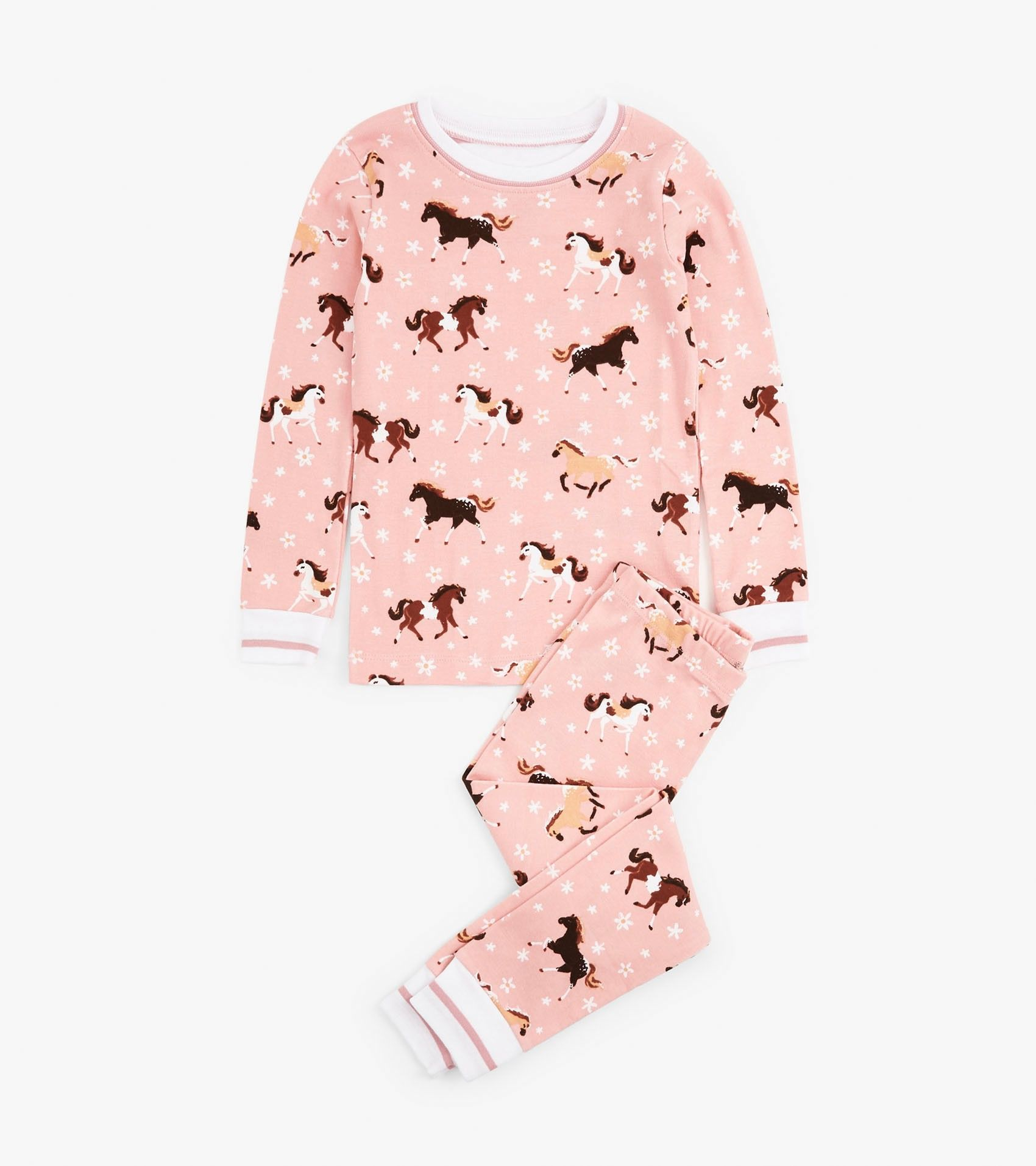 Frolicking Horses Organic Cotton Pajama Set New Arrivals Collections Girls Hatley Canada Cotton Pajama Sets Pajama Set Sale Cotton Pyjamas