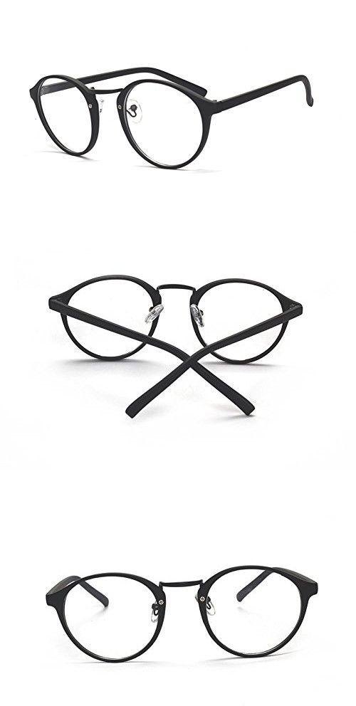 2fd7f025a99ec Caixia Women s SJDL-2214 Plastic Frame Round 48mm Eyeglasses Small Size  (matte black)