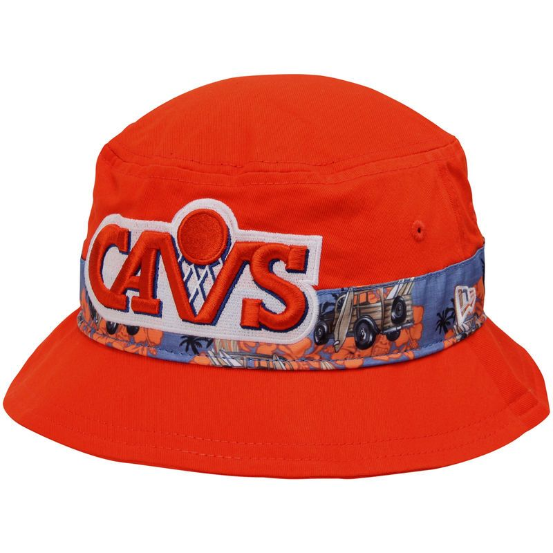 Cleveland Cavaliers New Era Print Vibe Bucket Hat - Orange ... 4f486d89093