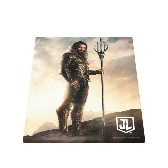 Justice League  Aquaman On Battlefield Canvas Print ,