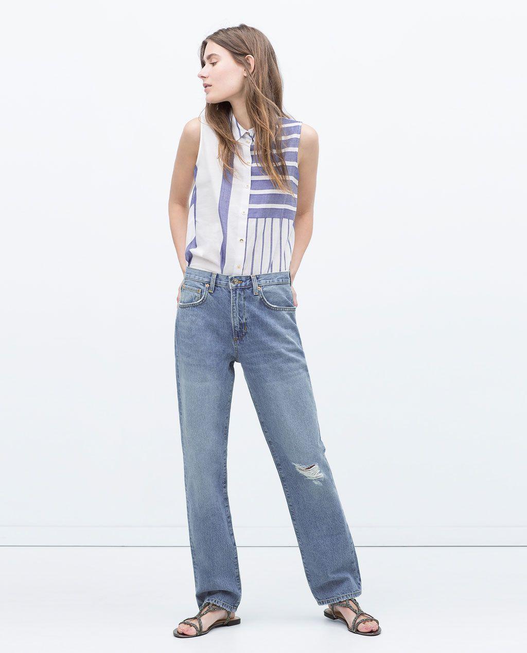 Zara sale striped shirt stuff to buy pinterest zara women