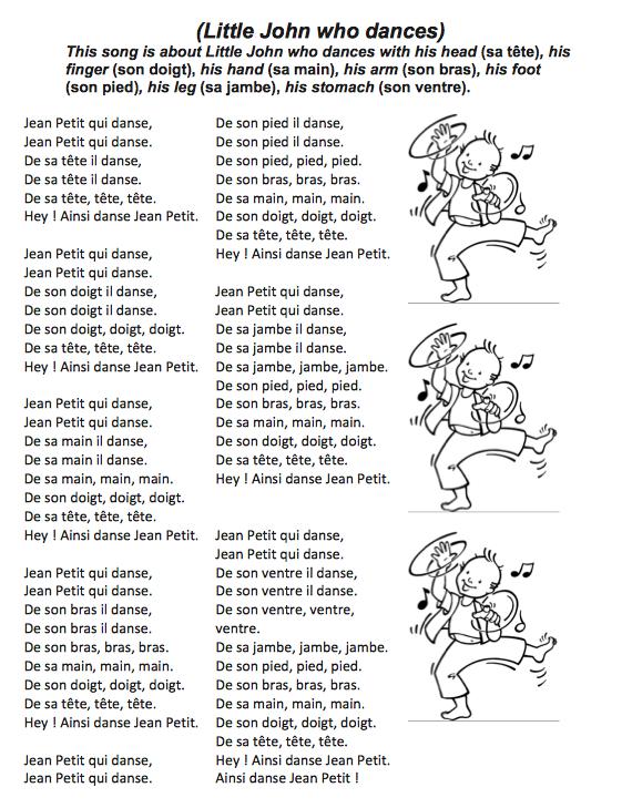 Jean Petit qui danse, chansons pour enfants sur
