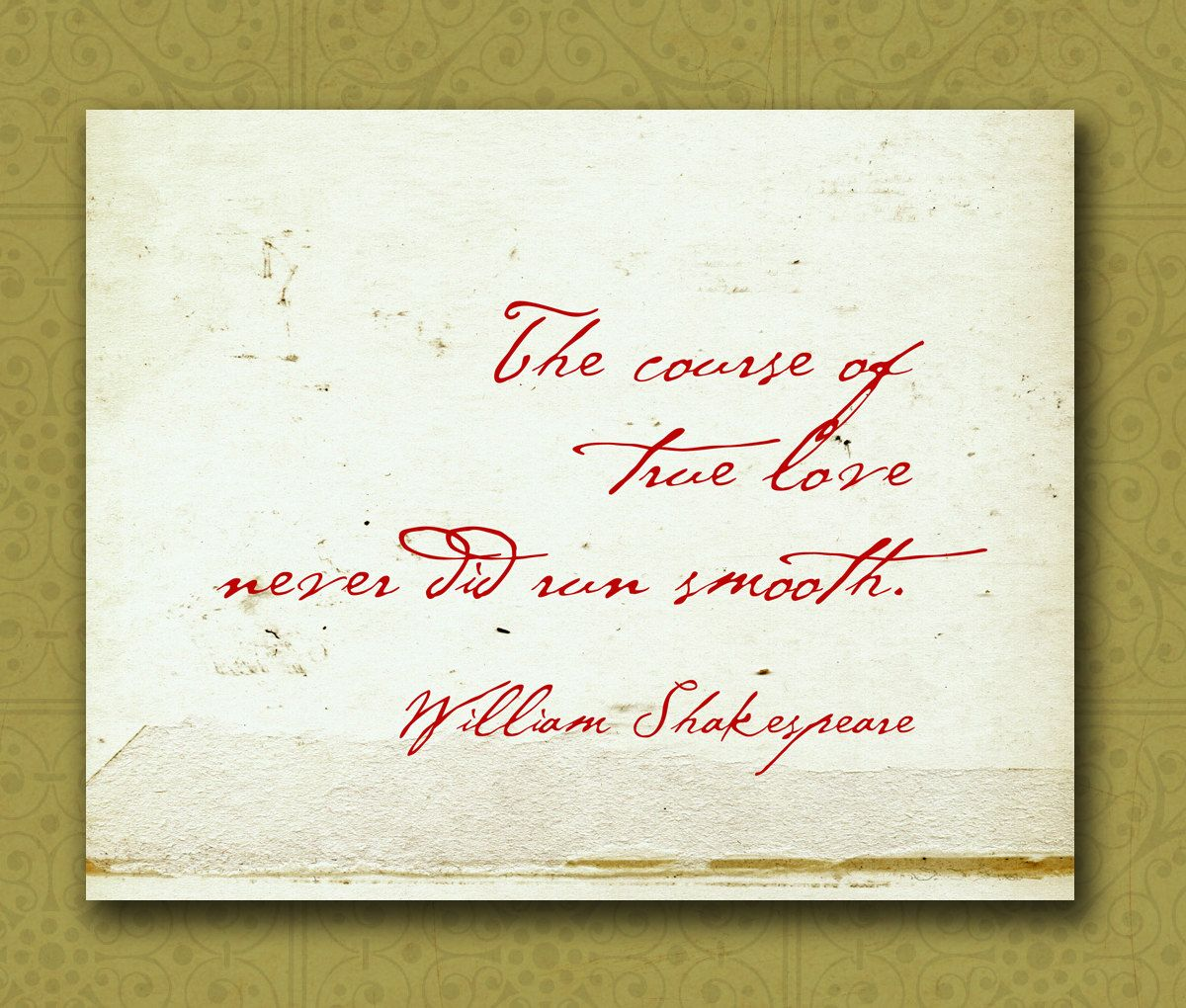 Famous Shakespeare Love Quotes The Course Of True Love Shakespeare  Love Love Love