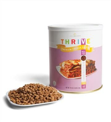 DONE: Freeze Dried Ground Beef (48 servings) great in pasta sauce or straight out of the can!