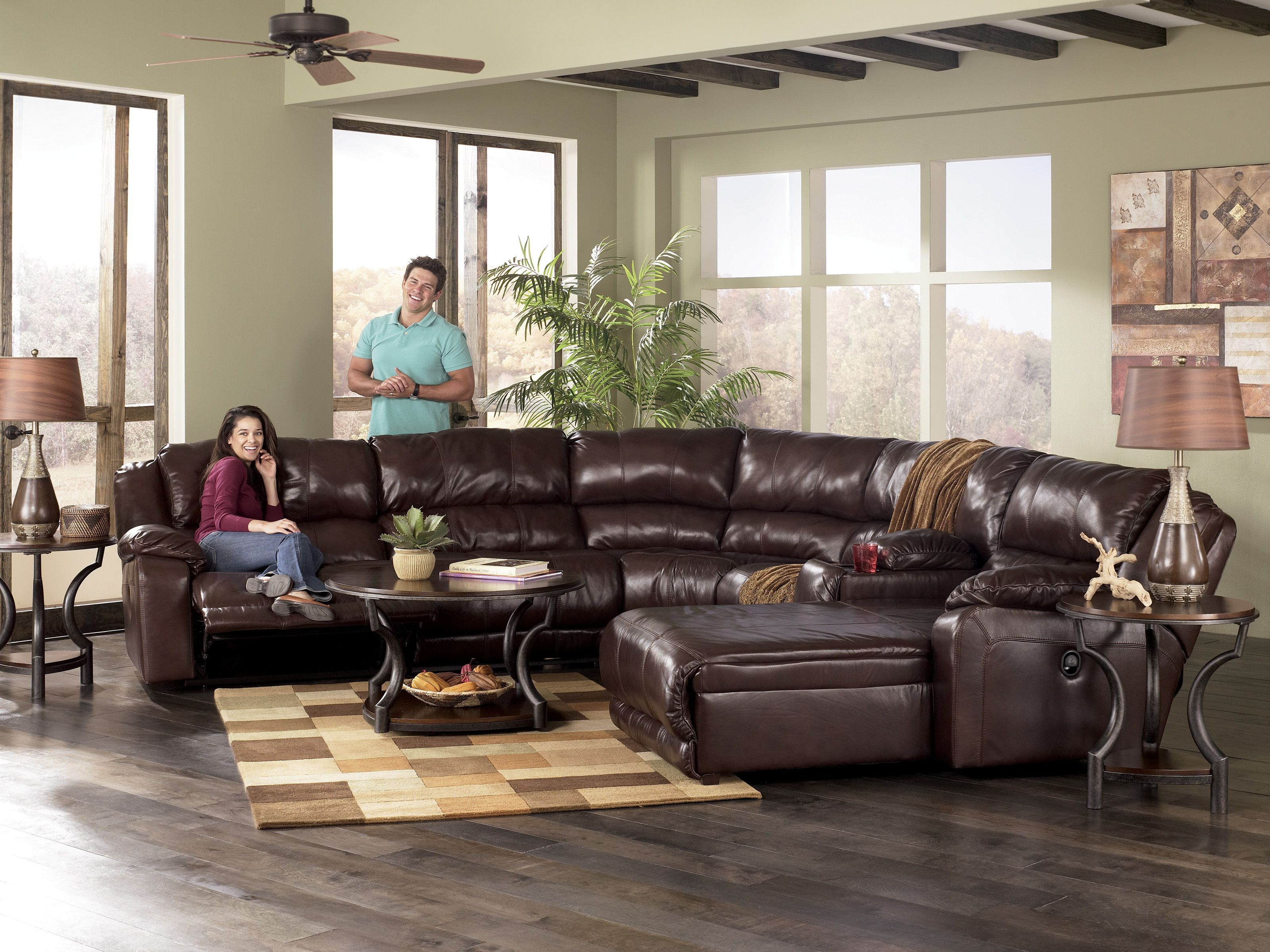 sectionals 97800 braxton java large sectional by ashley furniture millennium